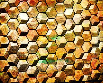 Hexacubes Art Print