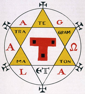 Hexagram Drawing - Hexagram Of Solomon A Powerful Occult by Mary Evans Picture Library