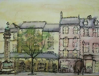 Hexham Market Place Northumberland  England Art Print