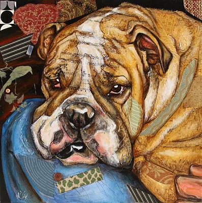 Hey Bulldog Art Print