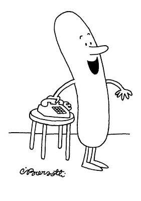Inviting Drawing - Hey, Everybody, We're Invited To A Cookout! by Charles Barsotti