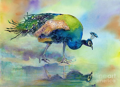 Birds Painting Rights Managed Images - Hey Good Lookin Royalty-Free Image by Amy Kirkpatrick