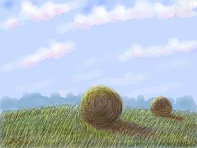 Digital Art - Hey I See Hay by Stacy C Bottoms