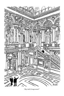 Washington D.c Drawing - Hey, Look! A Congressman! by Mischa Richter
