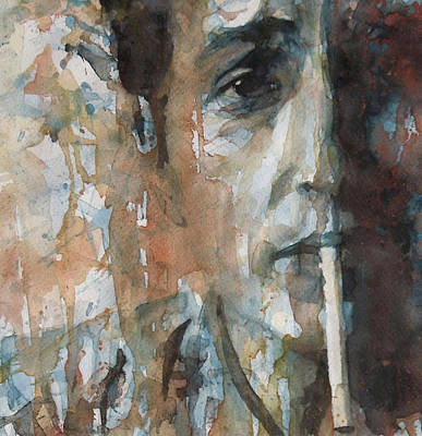 Celebrities Painting - Hey Mr Tambourine Man by Paul Lovering