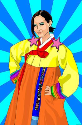Gangnam Style Digital Art - Hey Schexy Lady by GP Abrajano