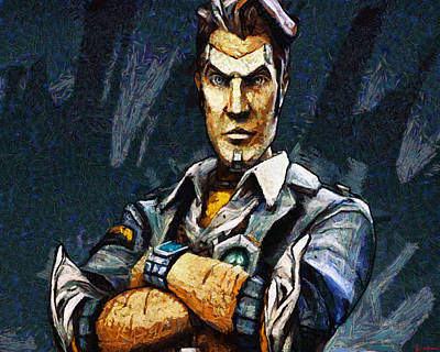 Painting - Hey Vault Hunter Handsome Jack Here by Joe Misrasi