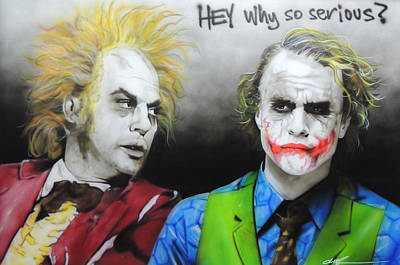 Heath Ledger Painting - Health Ledger - ' Hey Why So Serious? ' by Christian Chapman Art