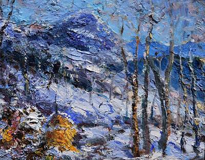 Painting - Heystack In The Snow by Sefedin Stafa