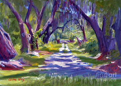 Bluffton Painting - Heywards Hall Of Oaks by Candace Lovely