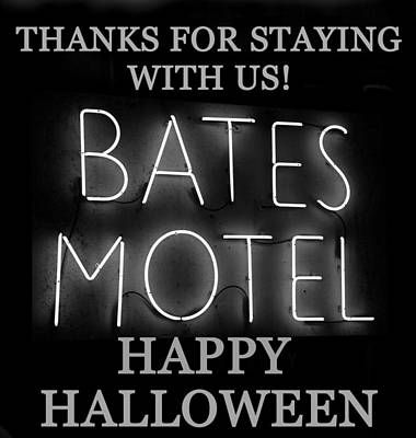 Hh Bates Motel Black And White Art Print by David Lee Thompson