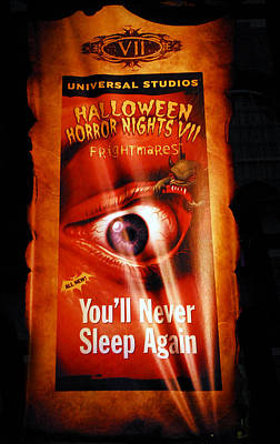 Haunted House Photograph - Hhn 7 Banner by David Lee Thompson