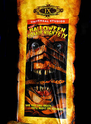 Haunted House Photograph - Hhn 9 Banner by David Lee Thompson