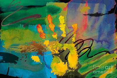 Scribbles Digital Art - Hi 5 by Peter Awax