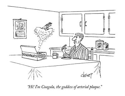 Genie Drawing - Hi! I'm Coagula by Tom Cheney