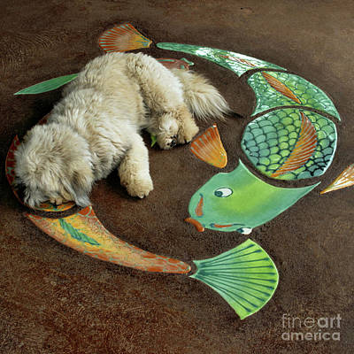Sleeping Dog Digital Art - Hiamoa Iki Kaukini by Sharon Mau