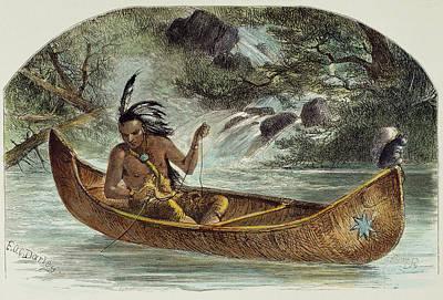 Hiawatha Fishing For Nahma Art Print by Granger