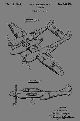 Studio Grafika Vintage Posters - Hibbard Airplane Patent by Dan Sproul