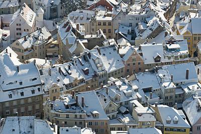 Hibernal Roofs Art Print by Holger Spiering