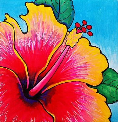 Painting - Hibiscus 01 by Adam Johnson