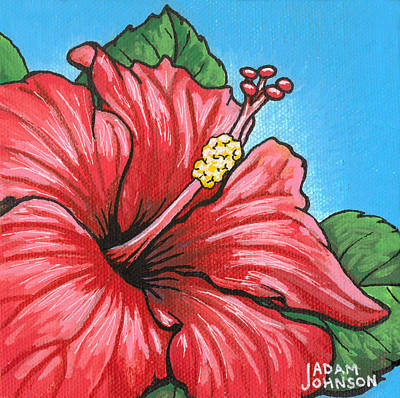 Painting - Hibiscus 05 by Adam Johnson