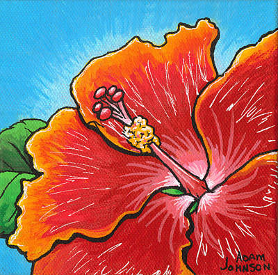 Painting - Hibiscus 06 by Adam Johnson