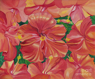 Painting - Hibiscus by Annette M Stevenson