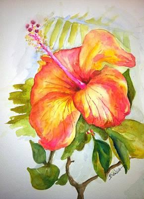 Hibiscus Art Print by Bianca Romani