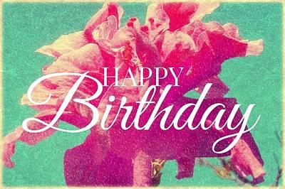 Digital Art - Hibiscus Birthday by Valerie Reeves