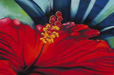 Painting - Hibiscus by Donna Page