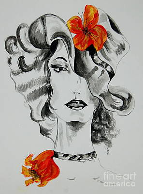 Painting - Hibiscus Fashion by Tamyra Crossley