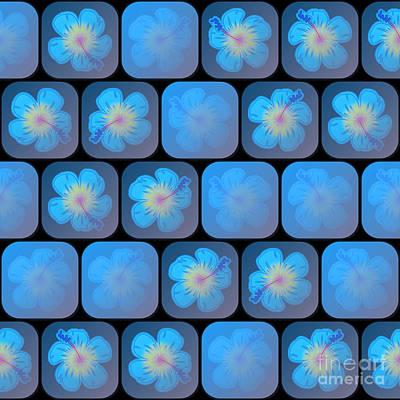Hibiscus In Blue Gel Art Print