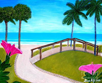 Painting - Hibiscus In Paradise by Oksana Semenchenko