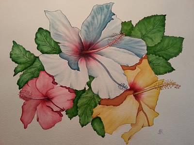 Hibiscus Joy Of Hawaii Art Print by TK Alexander