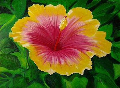 Painting - Hibiscus by Maria Mills