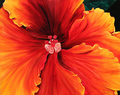 Painting - Hibiscus by Melinda Cummings