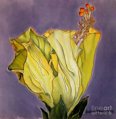 Nature Painting - Hibiscus One by Anderson R Moore