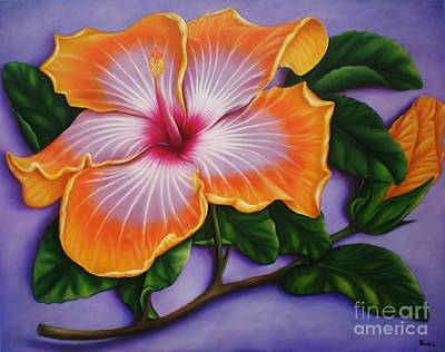 Art Print featuring the painting Hibiscus by Paula L