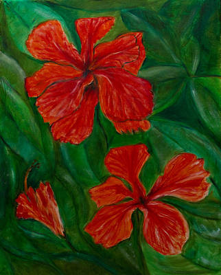 Painting - Hibiscus by Peter Turner