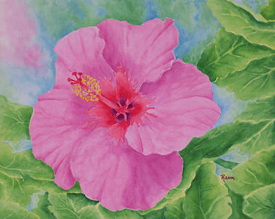 Hibiscus Art Print by Rhonda Leonard