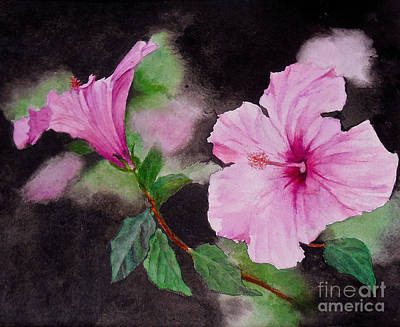 Painting - Hibiscus - So Pretty In Pink by Sher Nasser