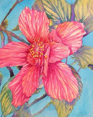 Painting - Hibiscus Stripes by Annika Farmer