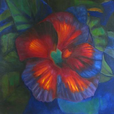 Hibiscus Art Print by Susan Hanlon