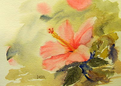 Painting - Hibiscus by Todd Derr
