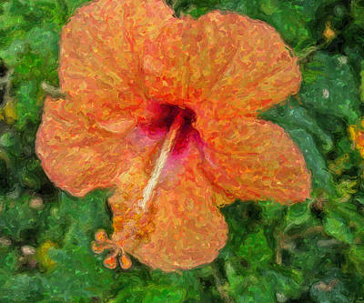 Digital Art - Hibiscus Van Gogh by Sandra Selle Rodriguez
