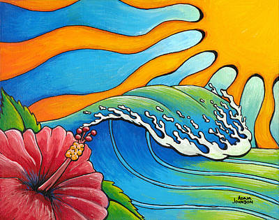 Painting - Hibiscus Wave by Adam Johnson