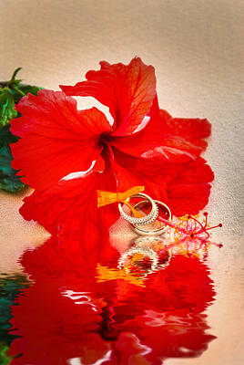 Photograph - Hibiscus With Wedding Bands by Errol Wilson