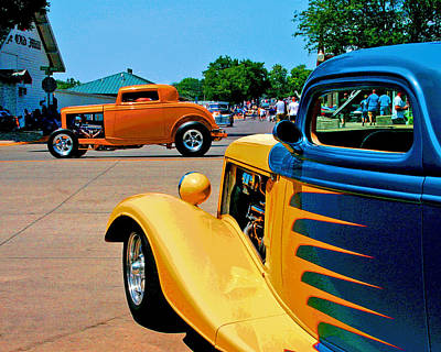 Art Print featuring the photograph Hiboy Over Fender Custom by Christopher McKenzie