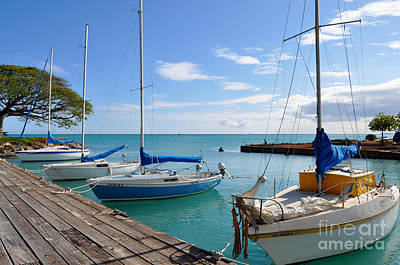Hickam Harbor Art Print by Gina Savage