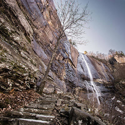Photograph - Hickory Nut Falls by Randy Scherkenbach